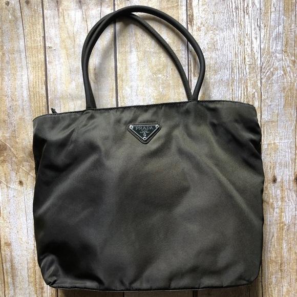 551ddd5b8af33c Prada Bags | Authentic Wcards Nylon Hunter Green Tote | Poshmark